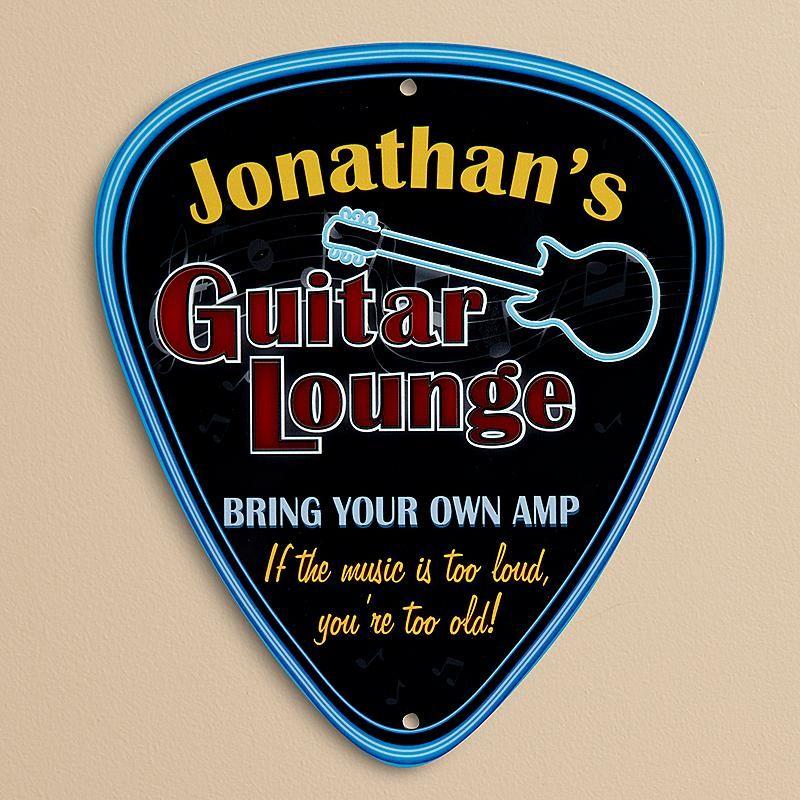 Guitar Lounge Sign #customguitars