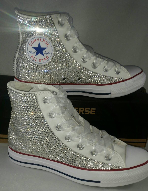 Full Bling Bridal Converse Wedding Converse Bling & Pearls