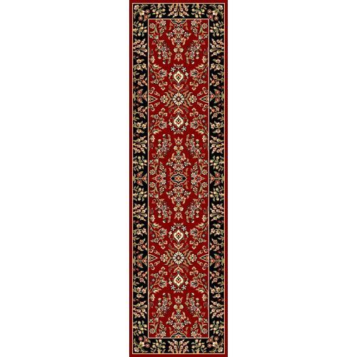 Lyndhurst Red and Black Runner: 2 Ft. 3 In. x 8 Ft. In. Area Rug - (In Runner)