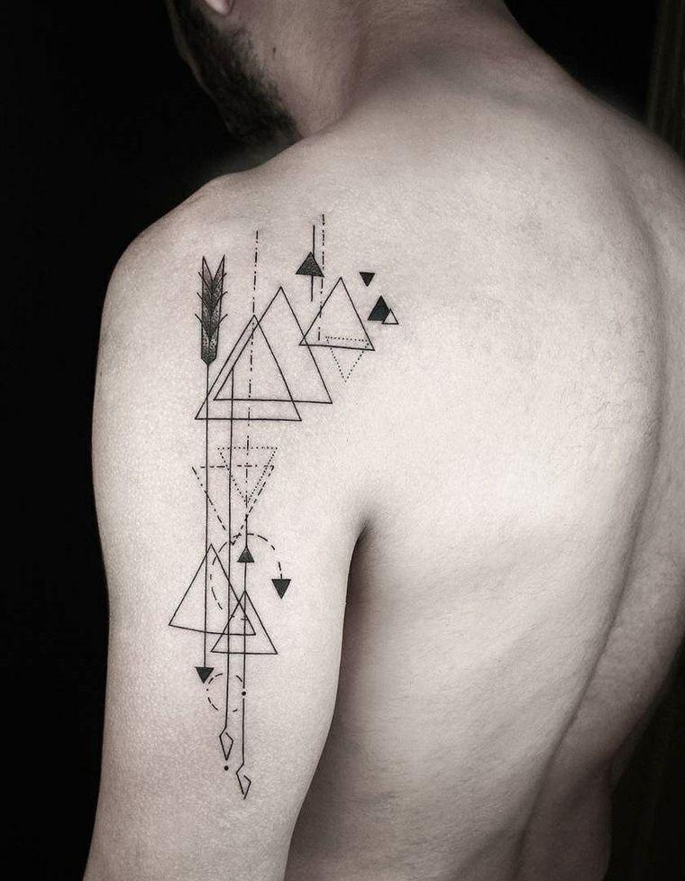 Tatuajes Para Hombres Increibles Diseños Geométricos Para