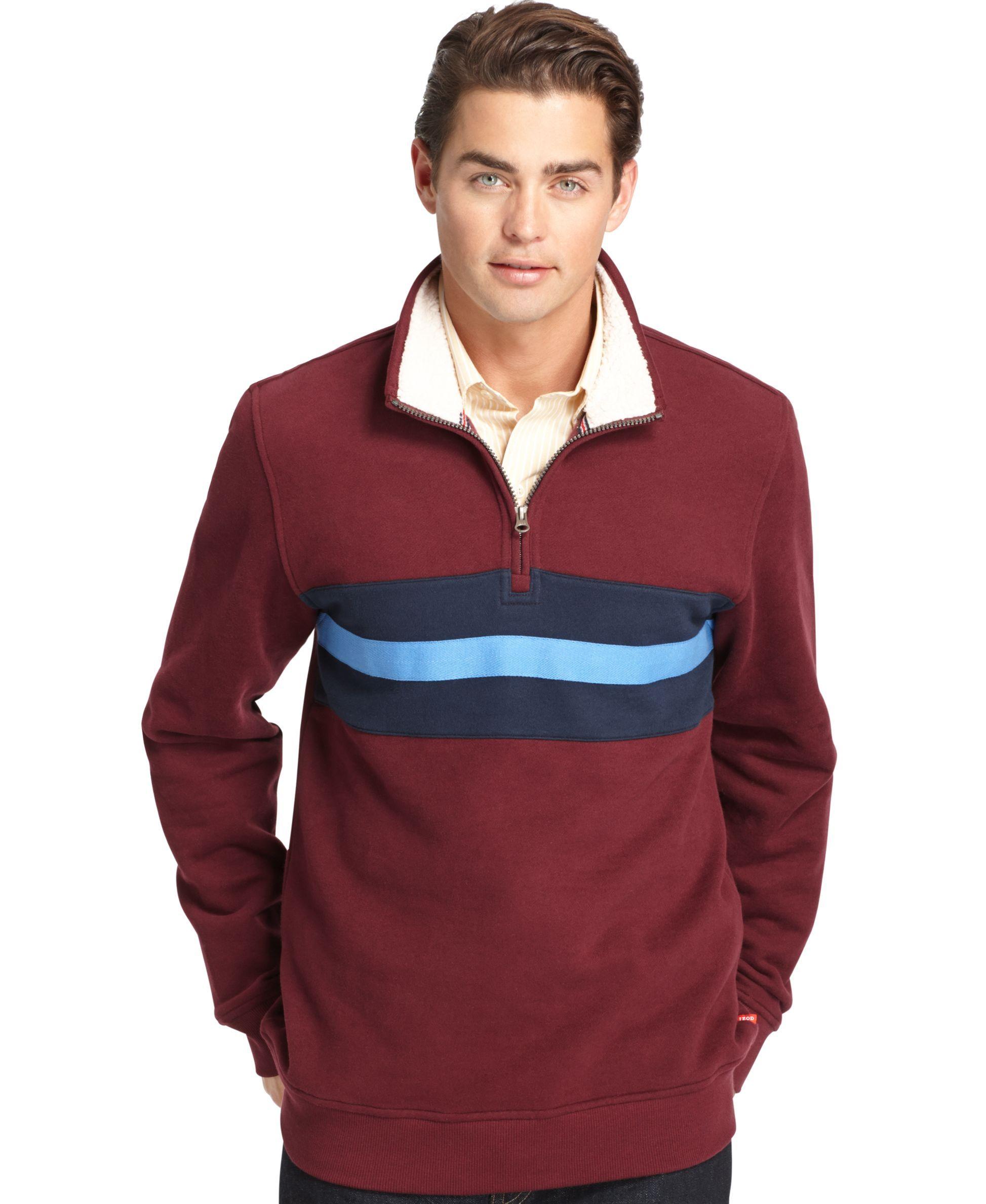 Izod Suede Fleece Quarter-Zip Pullover | Products | Pinterest ...