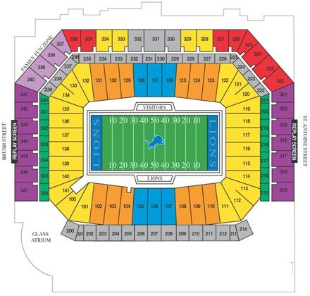 Ford Field Map Ford Field Parking Maps | FORD FIELD | International Convention JW