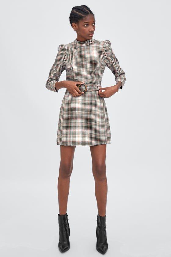 Looks con vestidos a cuadros Zara Otoño Invierno 2013