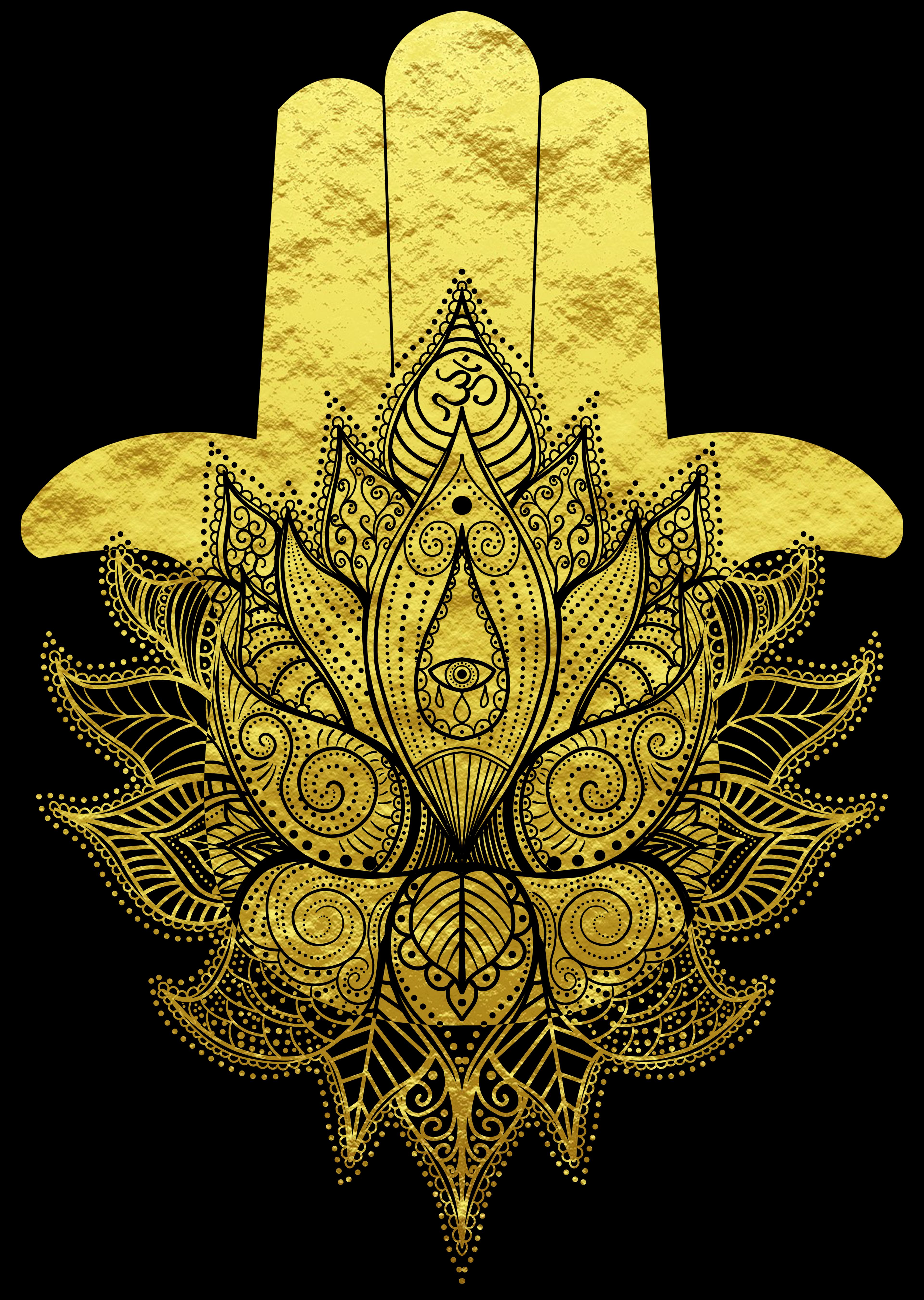 Hamsa Hand Flower Of Life Mandala Om Symbol Blume Des Lebens Tattoo Hamsa Mandala T Shirt