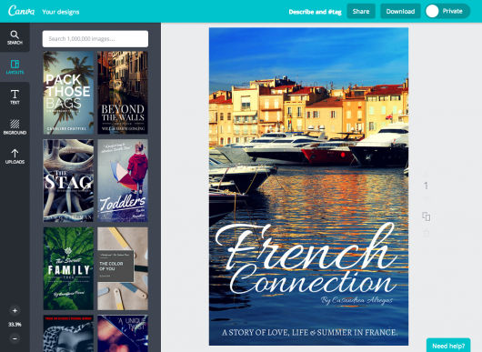 free online book cover maker by canva all things honey pinterest