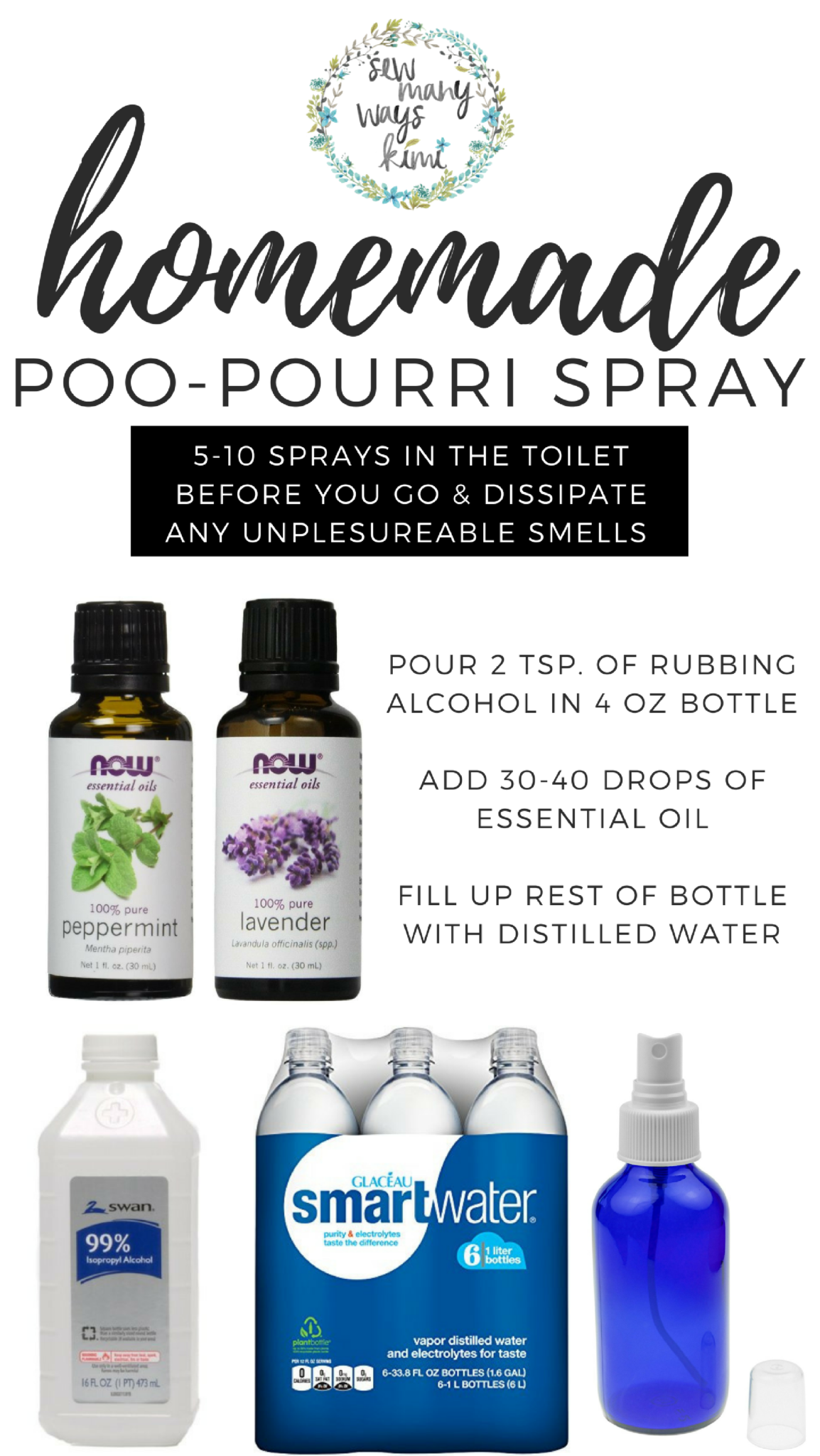 Easy Recipe For Homemade Diy Poo Pourri Spray Also Makes