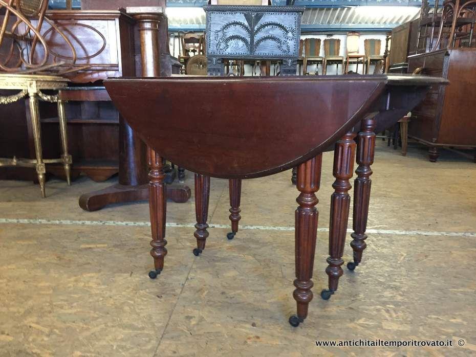 Mobili antichi tavoli allungabili tavolo a bandelle for Tavolo rotondo apribile