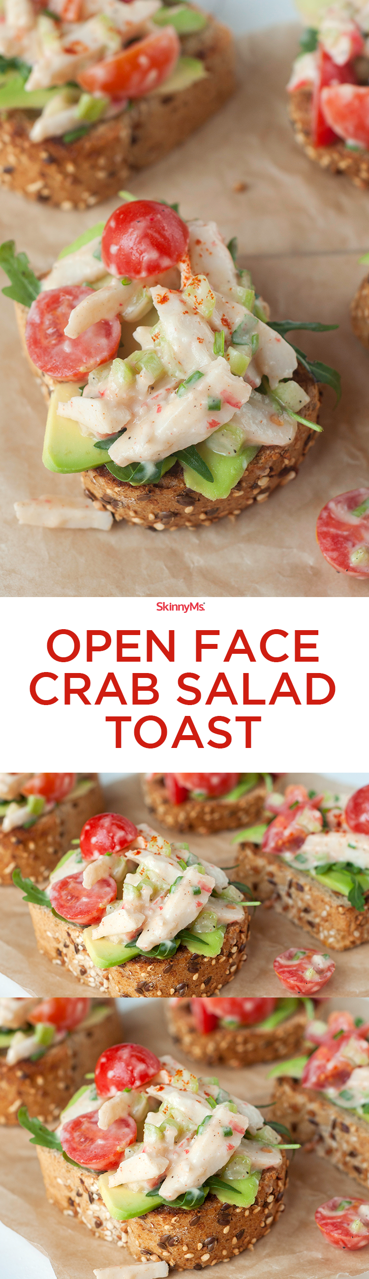 Open Face Crab Salad Toast