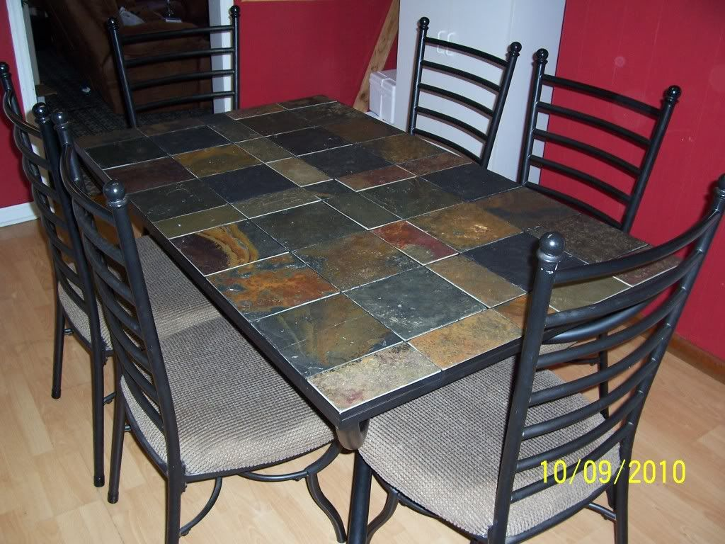 Slate Dining Table Set Jpg 1024 768 Interior Design Dining Room Kitchen Table Settings Interior Design Dining
