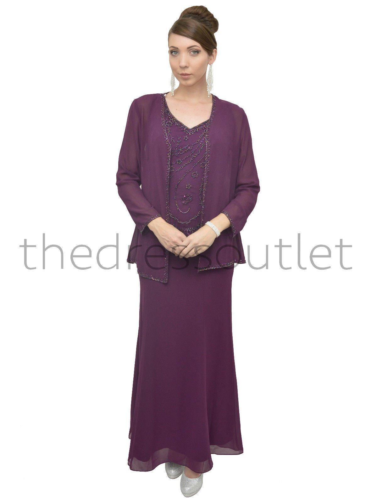 Long mother of the bride dress formal plum products pinterest
