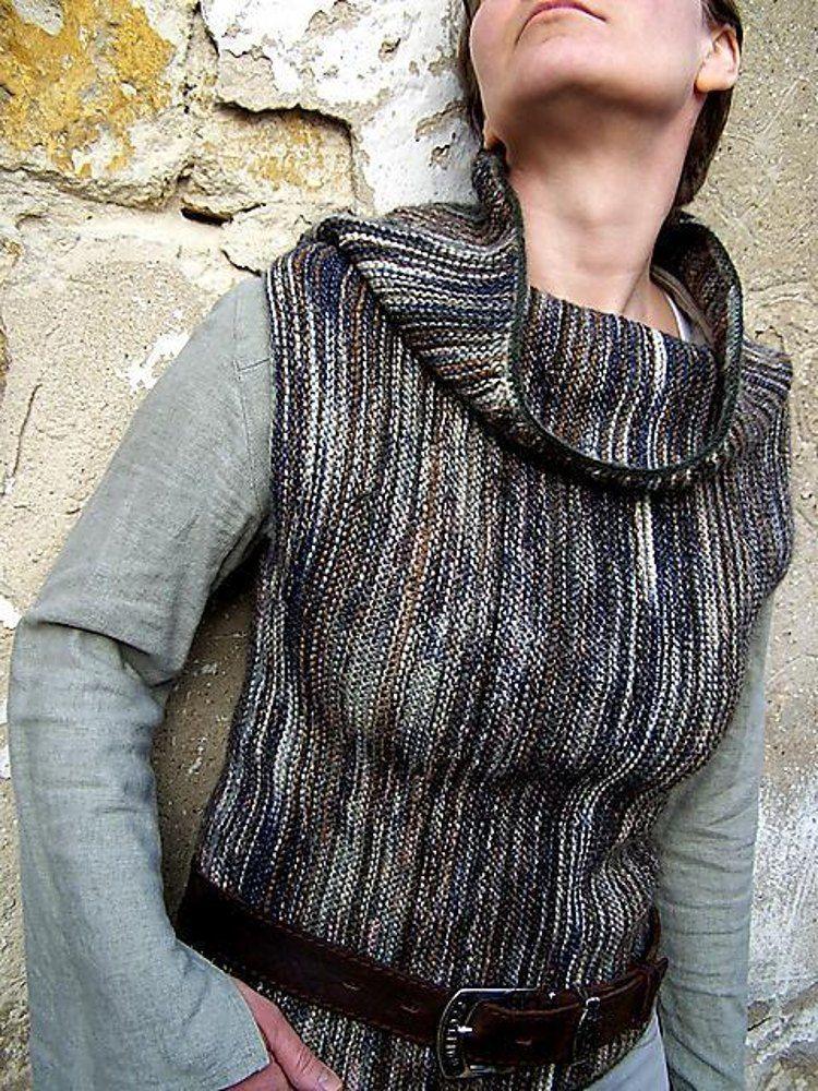NAKED LANDS vest Knitting pattern by Ildiko Eros