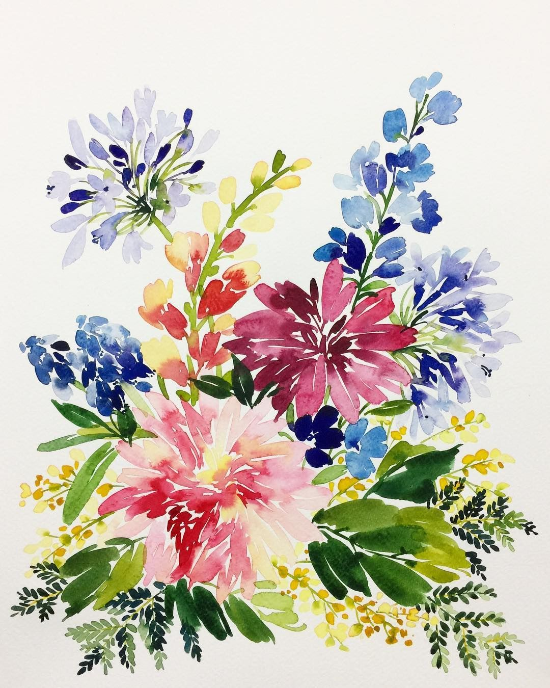 Pin By Ashna Vakharia On Watercolour Watercolor Flowers Floral