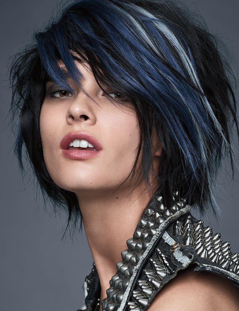 Crystal renn with midnight edge hair wilson pinterest short