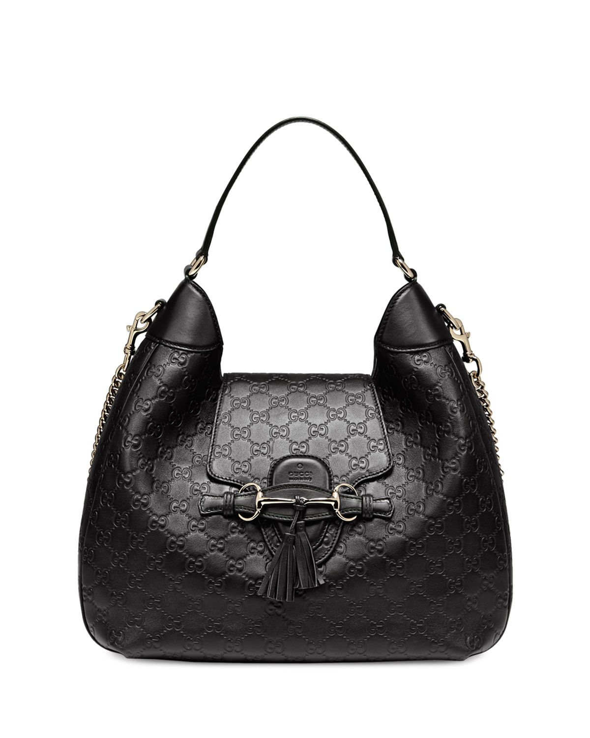 9c7f6b823 Gucci Emily Guccissima Leather Hobo Bag, Black | Gucci Bags | Bags ...