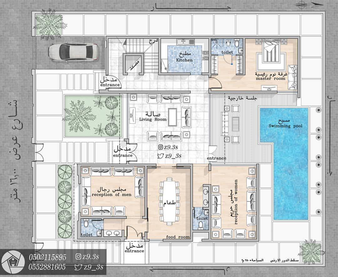 المدينة المنورة مخططات الرياض مخطط الشرقية فلل فيلا كروكي بيت مكة منزل منزلي جازان Architectural House Plans Family House Plans House Layout Plans