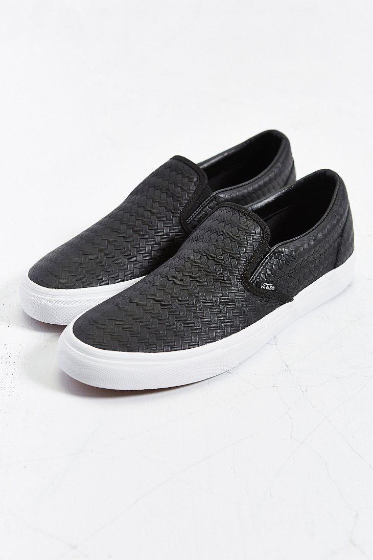 96abe70f90 Vans Classic Leather Slip-On Mens Sneaker - Urban Outfitters