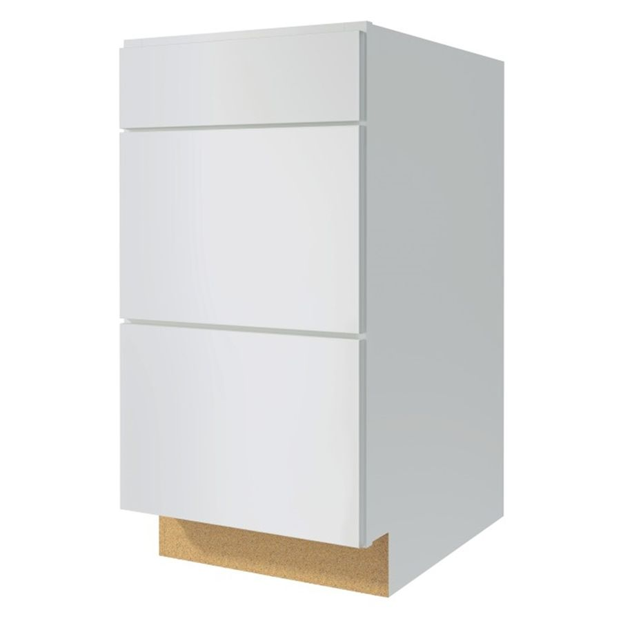 Kitchen Classics Arcadia 24 In W X 35 In H X 23 75 In D Laminate Truecolor White Engineered Wood Shaker Drawer Base Cabine Stock Cabinets White Drawers Cabinet