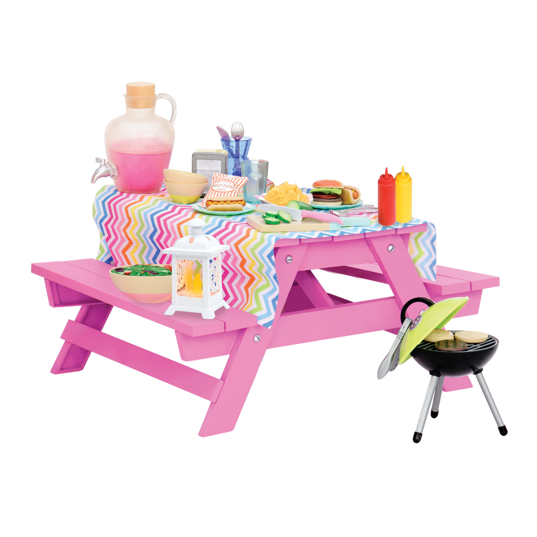 Our Generation Fun & Adventure fashion accessory for 18 inch doll, 18 inch accessory, Picnic Table Set for 18 inch Our Generation doll #oggiveaway #dollaccessories