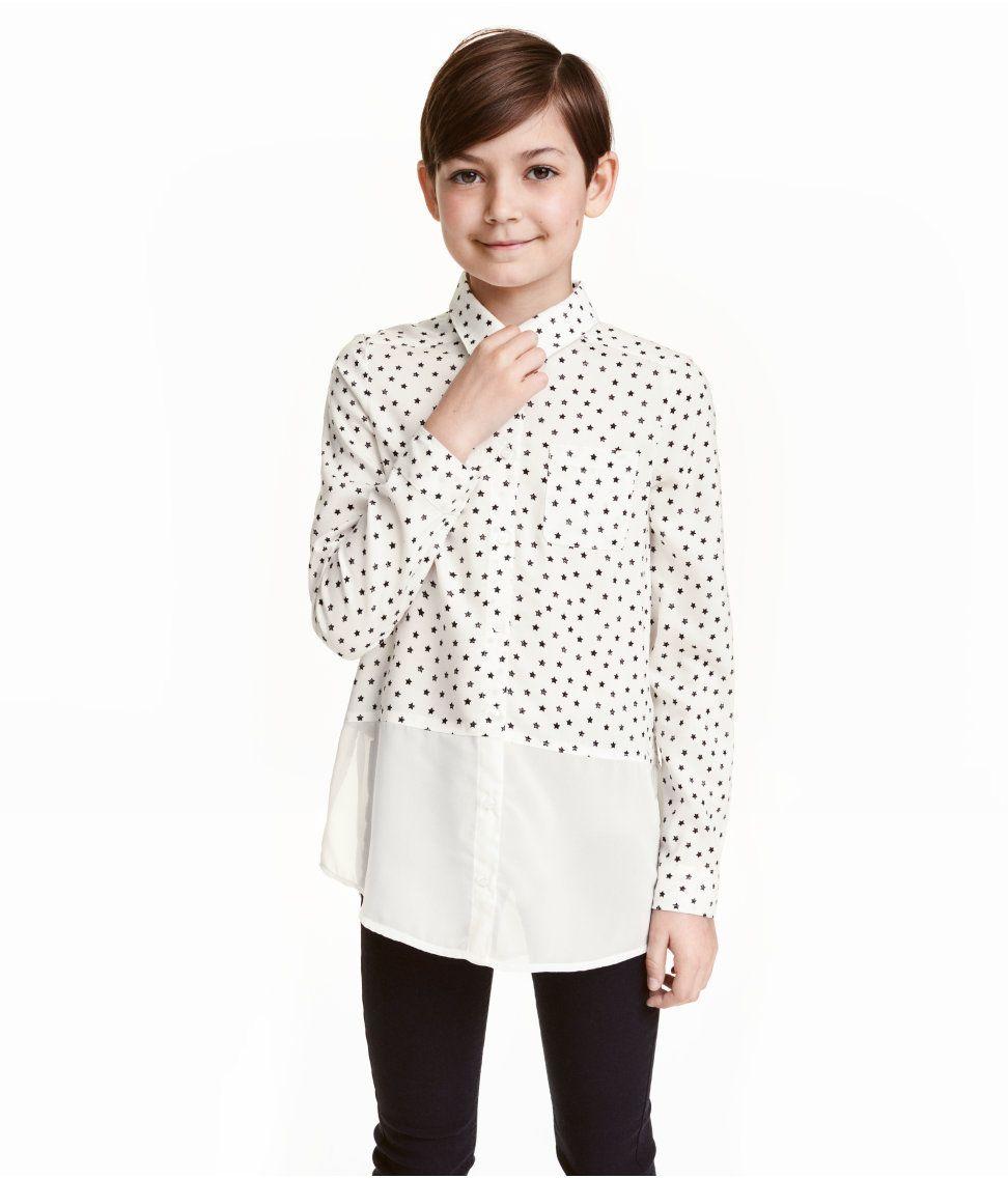 Kuviollinen pusero | Valkoinen/Tähdet | Kids | H&M FI