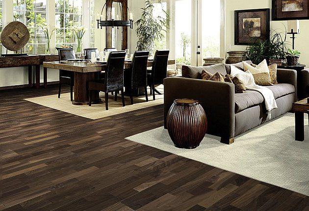 Classic Dark Wood Flooring On Cheap Hardwood Design Awesome Living Dining Room Cream Carpet Area