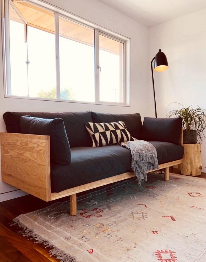 Woody Sofa / Twin Bed   Charcoal   Sofa design, Furniture ...