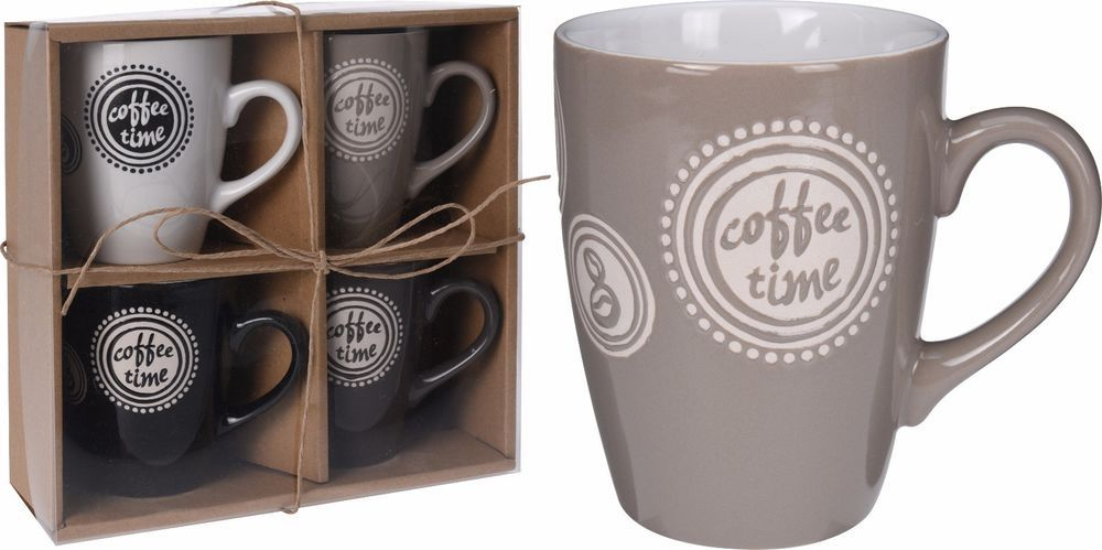 Details about set of 4 large coffee mugs 4 coordinated