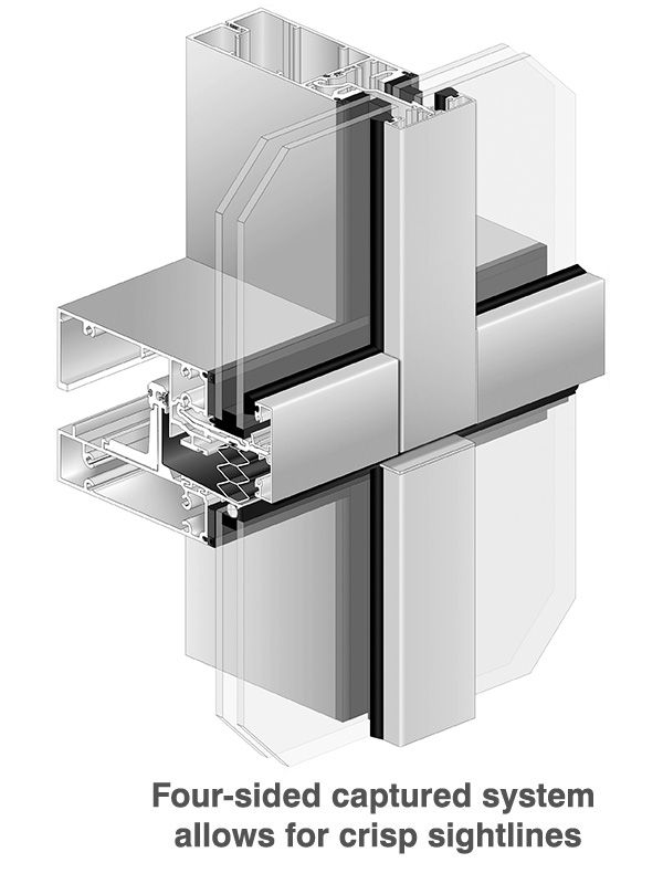 Ultra Thermal Pre Glazed Insulated Curtain Wall System 2500 Ut