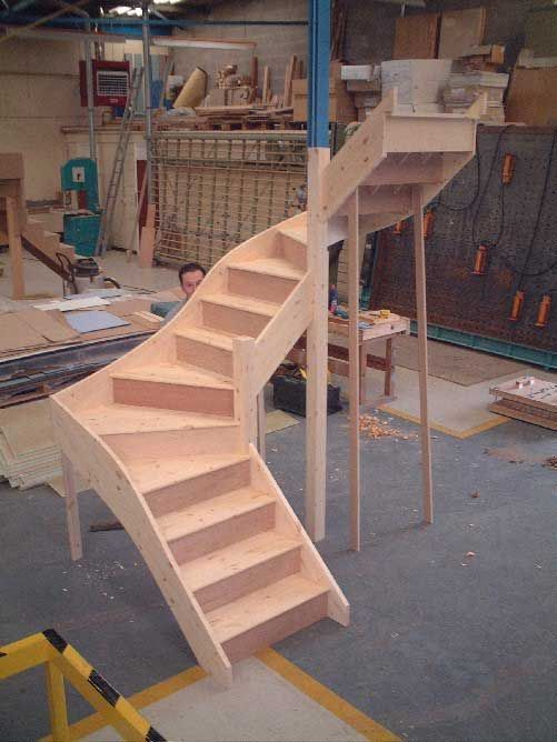 Double winder staircase attic pinterest staircases for Building winder stairs