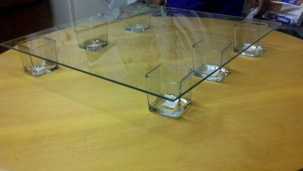 DIY Cake Standput Flowers Under The Glass And Make A Statement