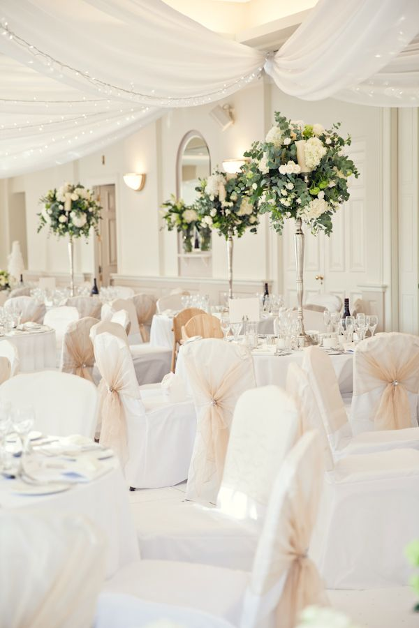 Best 25+ White chair covers ideas on Pinterest : Wedding chair covers, Royal blue wedding ...