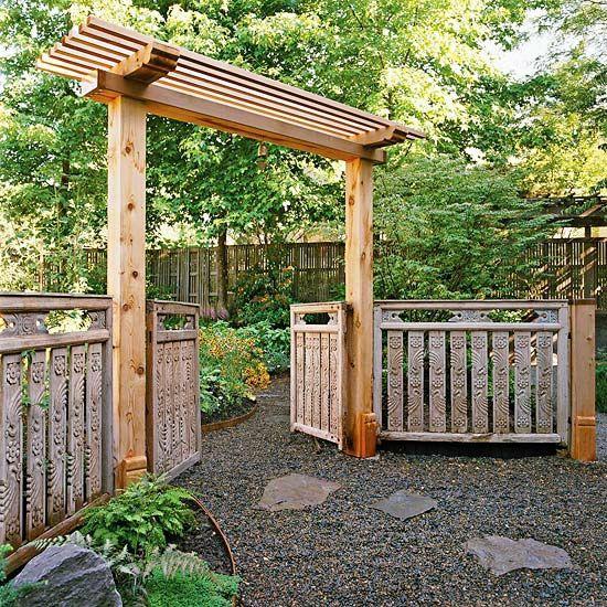 Fence Gate Arbor: Gartentore, Gartengestaltung
