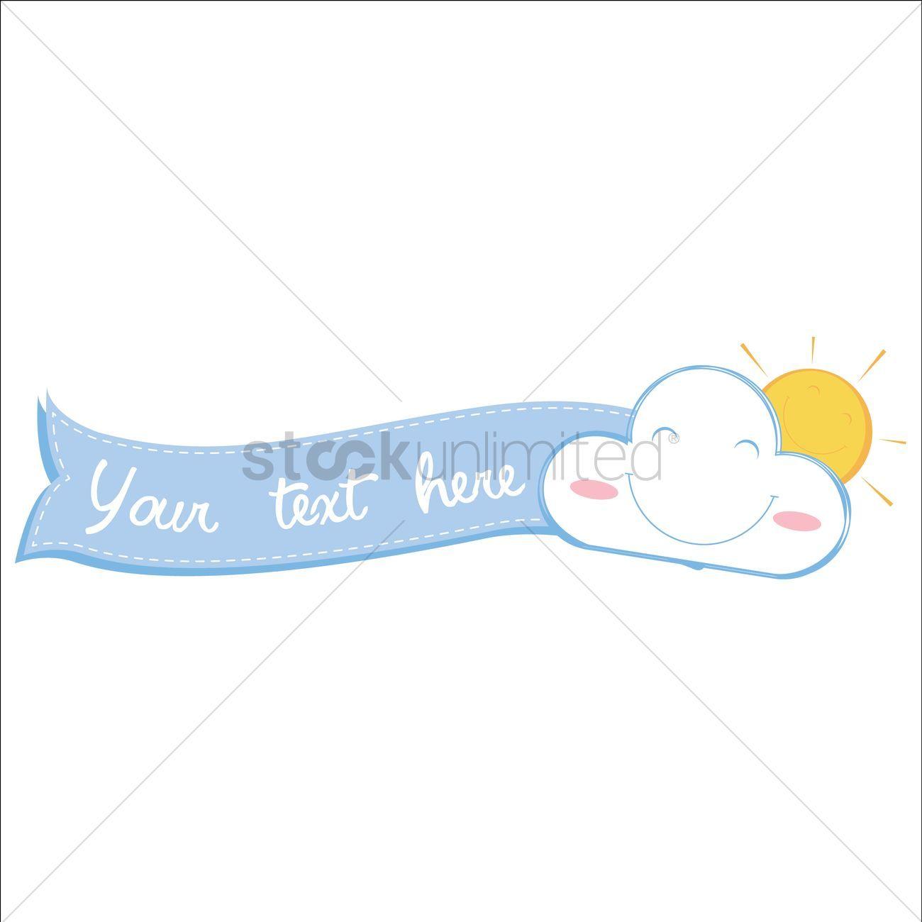 Sunrise banner stock vector