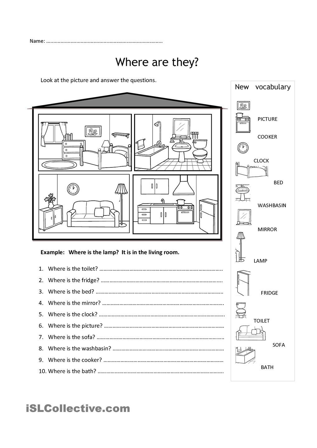 Rooms in the house | english language learners | Pinterest ...