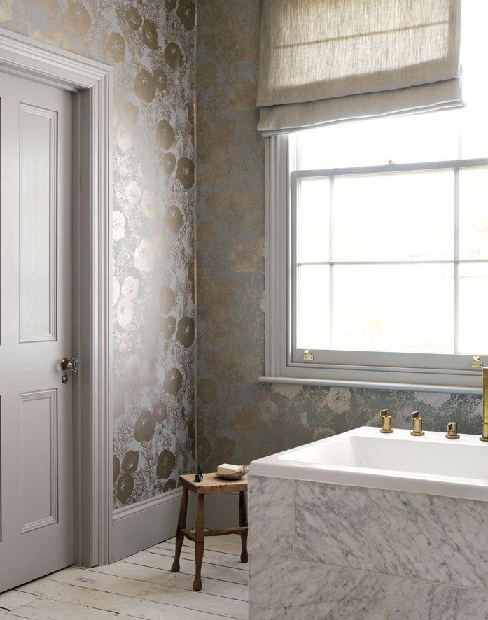 Auch im Badezimmer finden Tapeten ihren Einsatz. Fotocredits: ROMO ...
