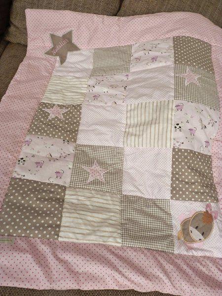 decken sch ne patchworkdecke f r m dchen babydecke ein designerst ck von katrinkab baby. Black Bedroom Furniture Sets. Home Design Ideas