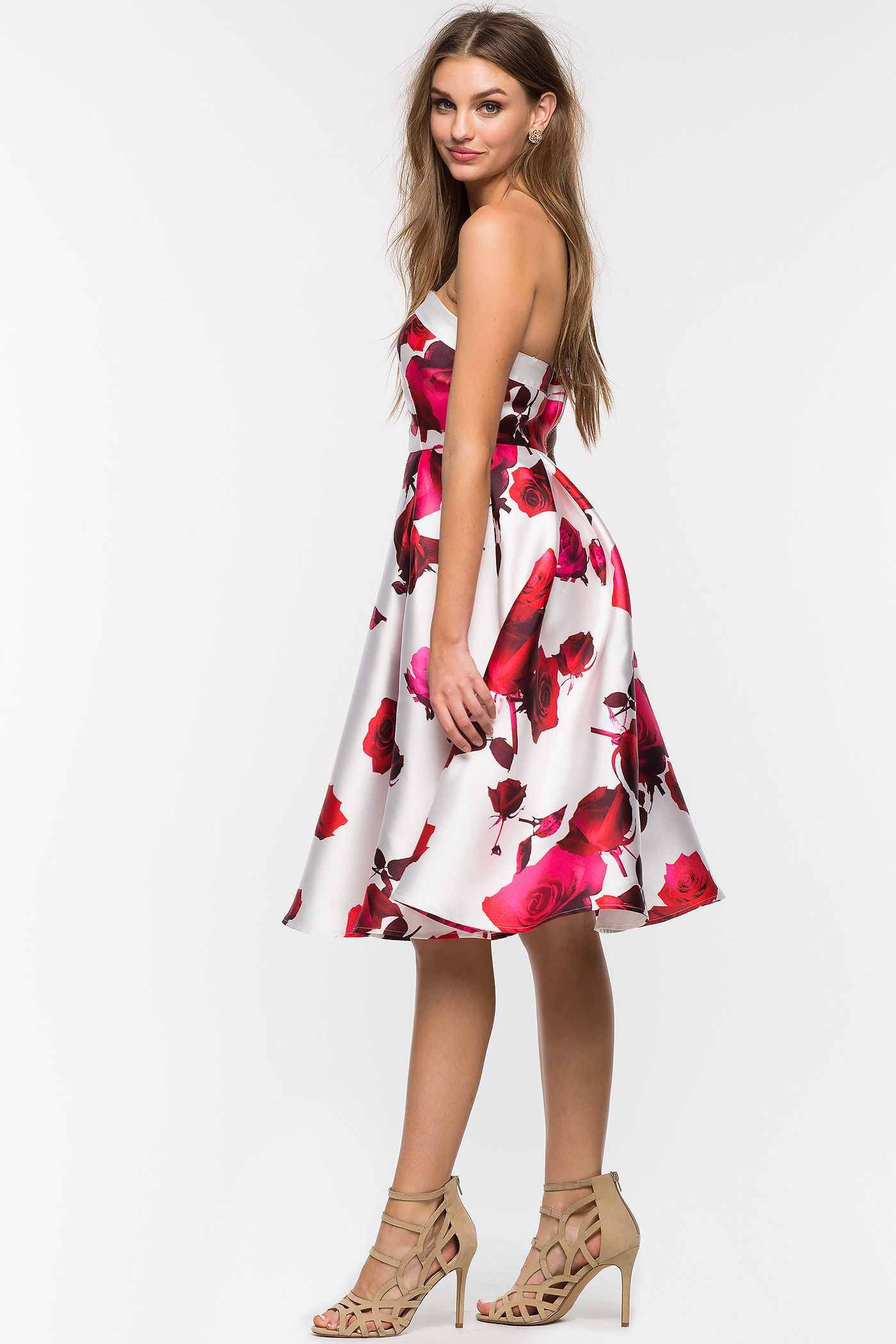 Women\'s Fit & Flare Dresses | Floral Frock Bustier Flare Dress | A ...