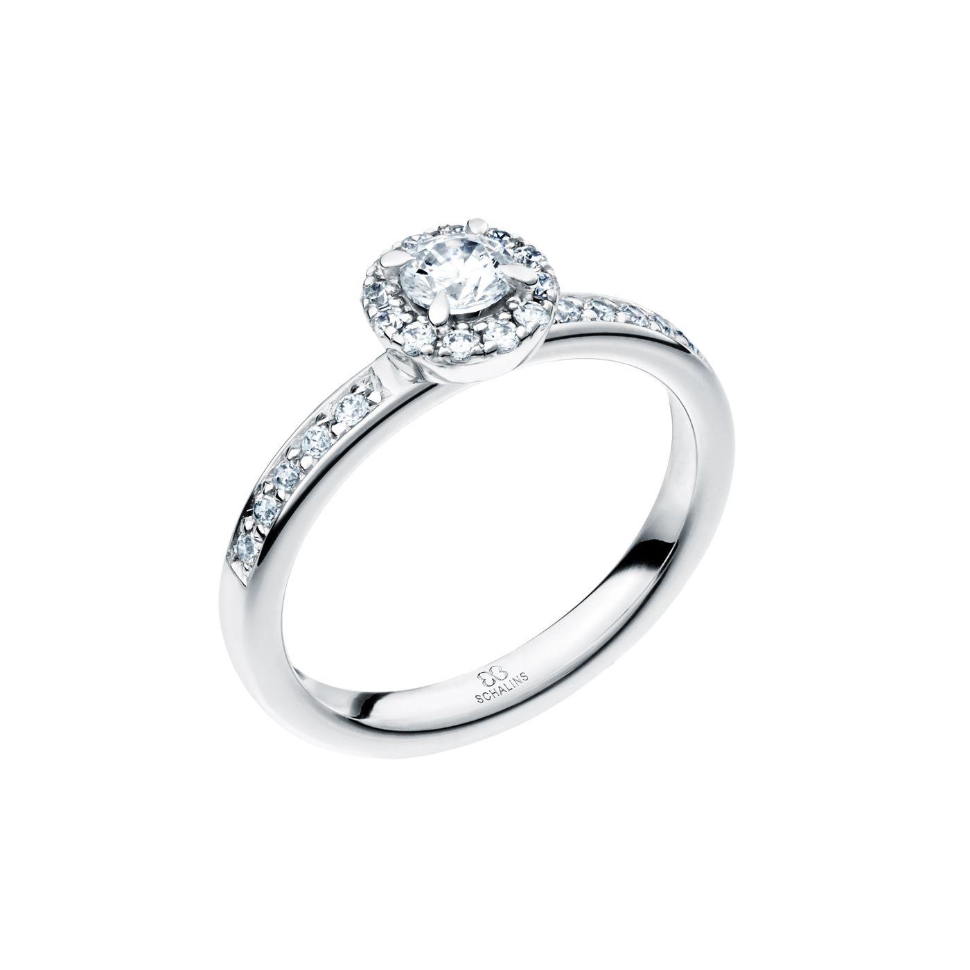 vigselring vitguld diamant