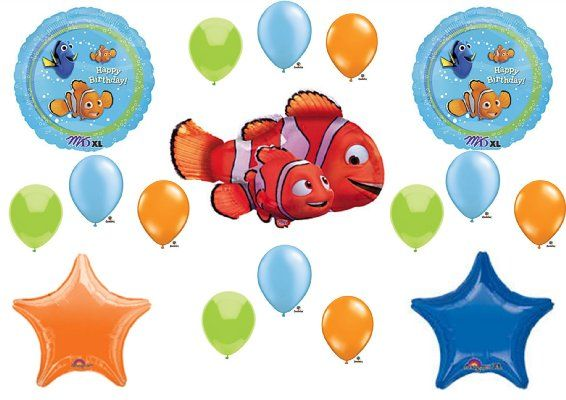 Finding Nemo BIRTHDAY PARTY Balloons Decorations SuppliesAmazonEverything Else