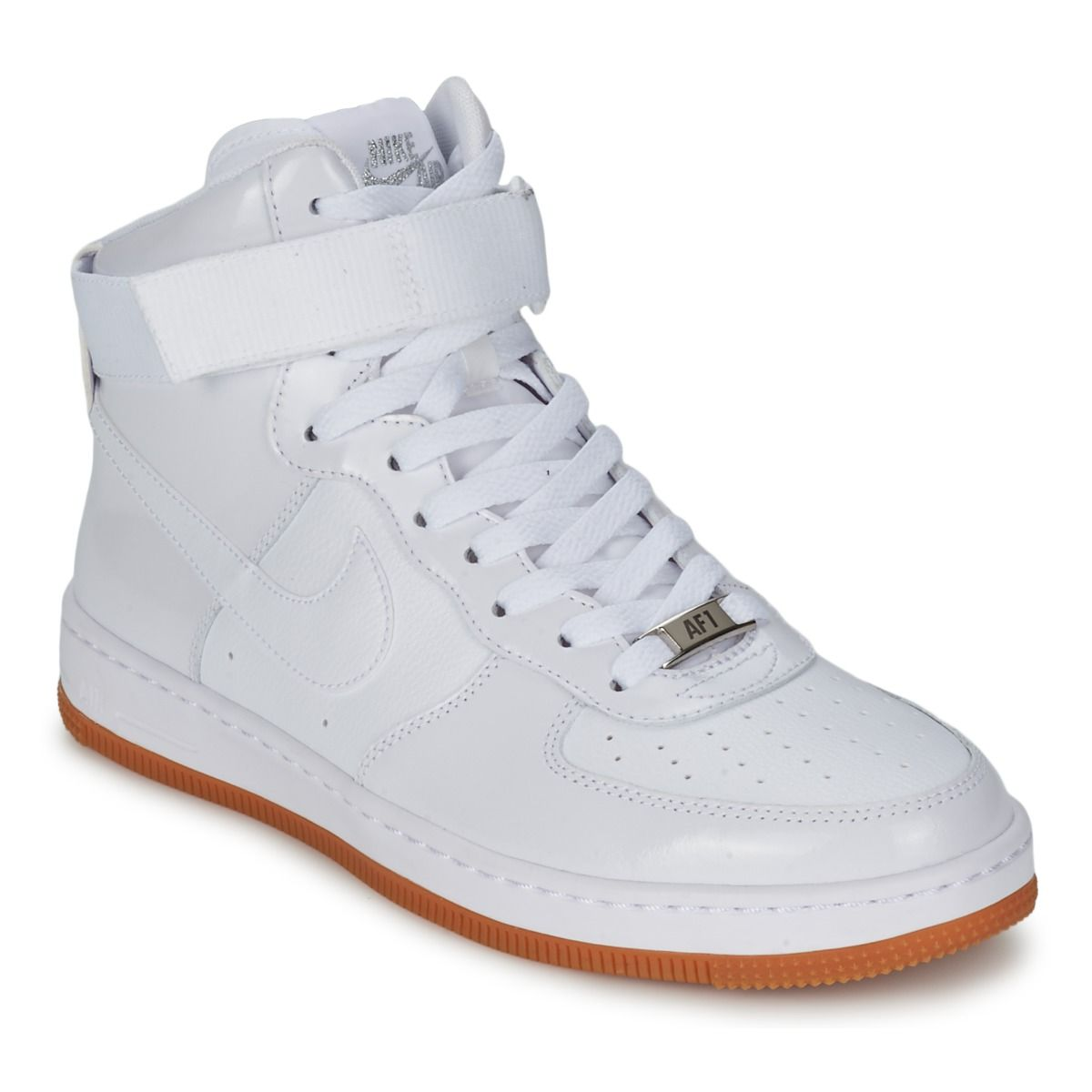 air force blanche semelle marron