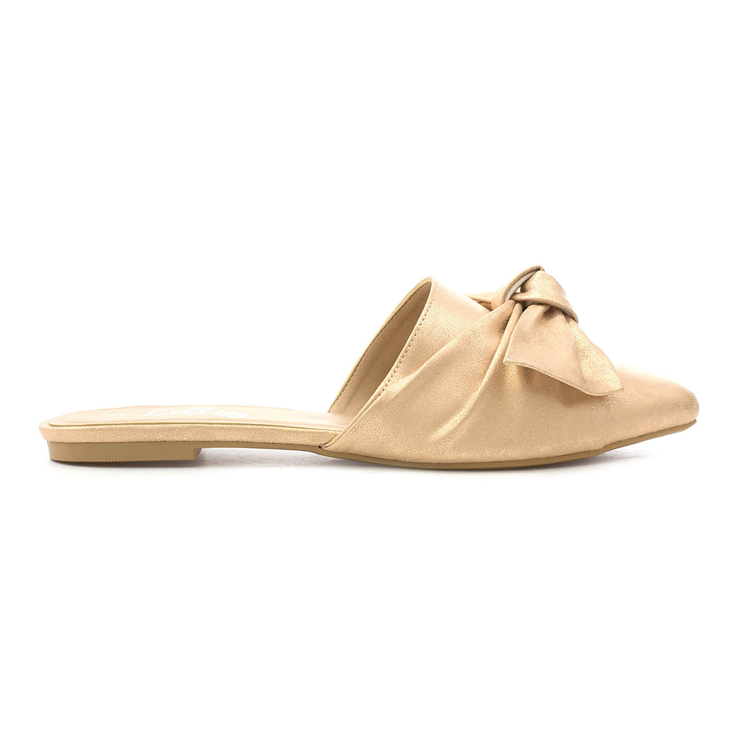 d7ae935a458f Lilley Womens Rose Gold Knotted Bow Pointed Mule   SHOE ZONE   SS18 ...