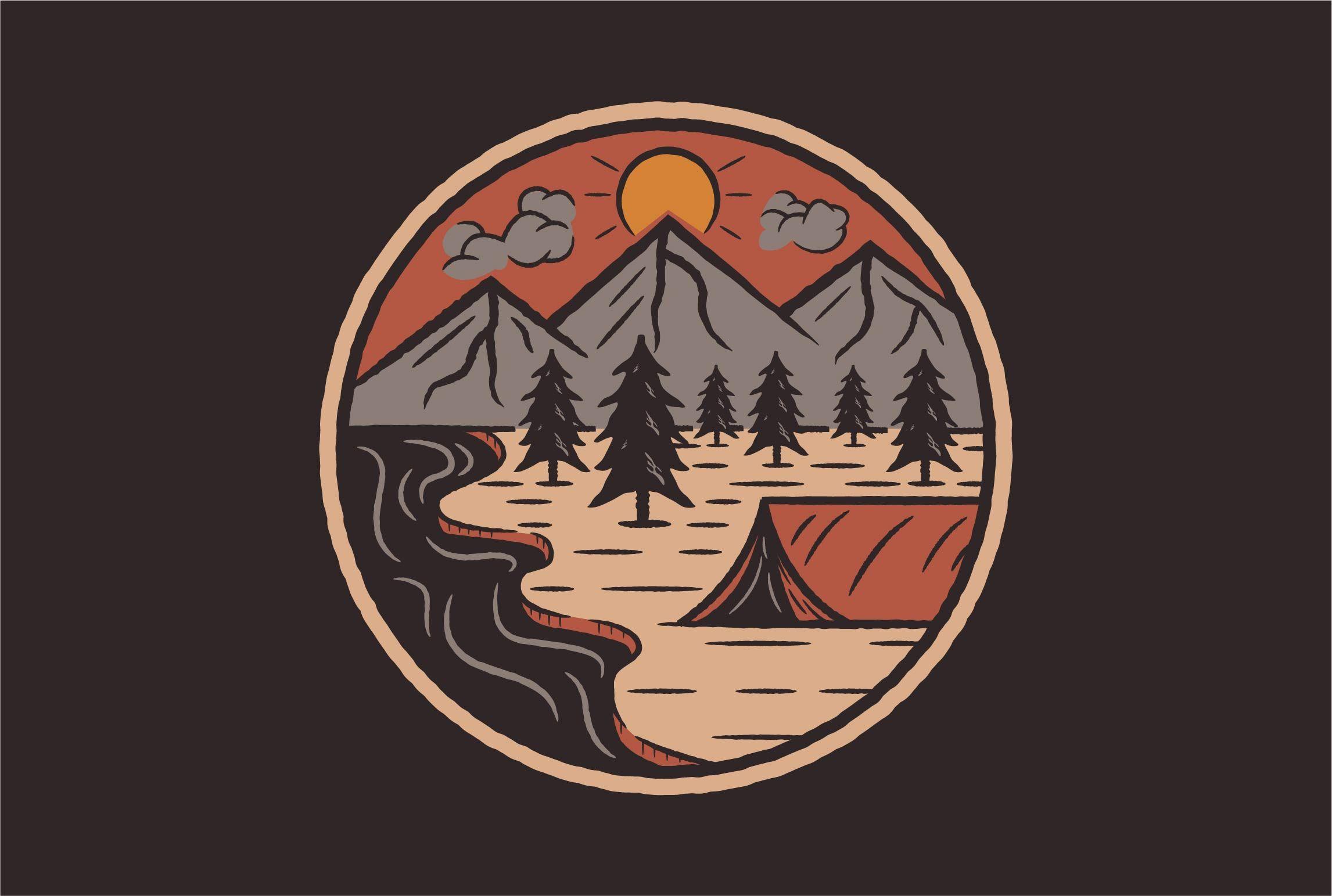 mhudasyahronie I will design vintage outdoor logo design