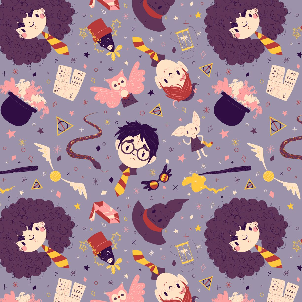 Harry Potter Iphone Wallpaper: Finished Harry Potter Pattern.