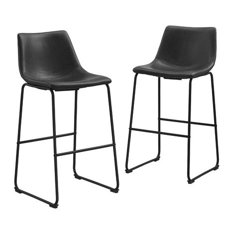 Manor Park 30 Industrial Faux Leather Barstool Set Of 2