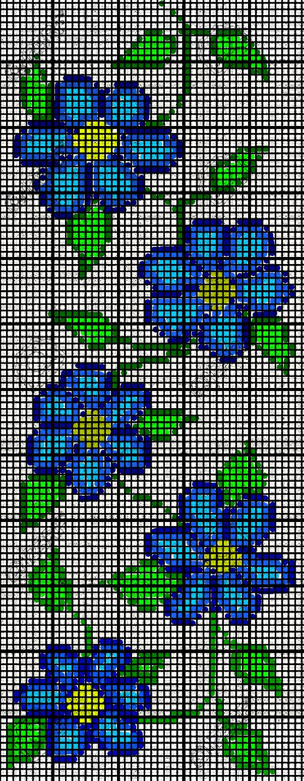 Ojibwe Native American Floral Flower Bead Loom Pattern