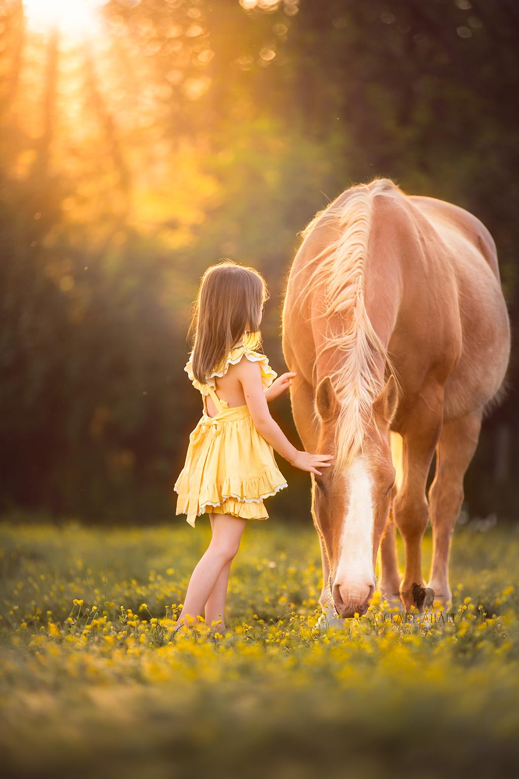 Znalezione obrazy dla zapytania horse and child