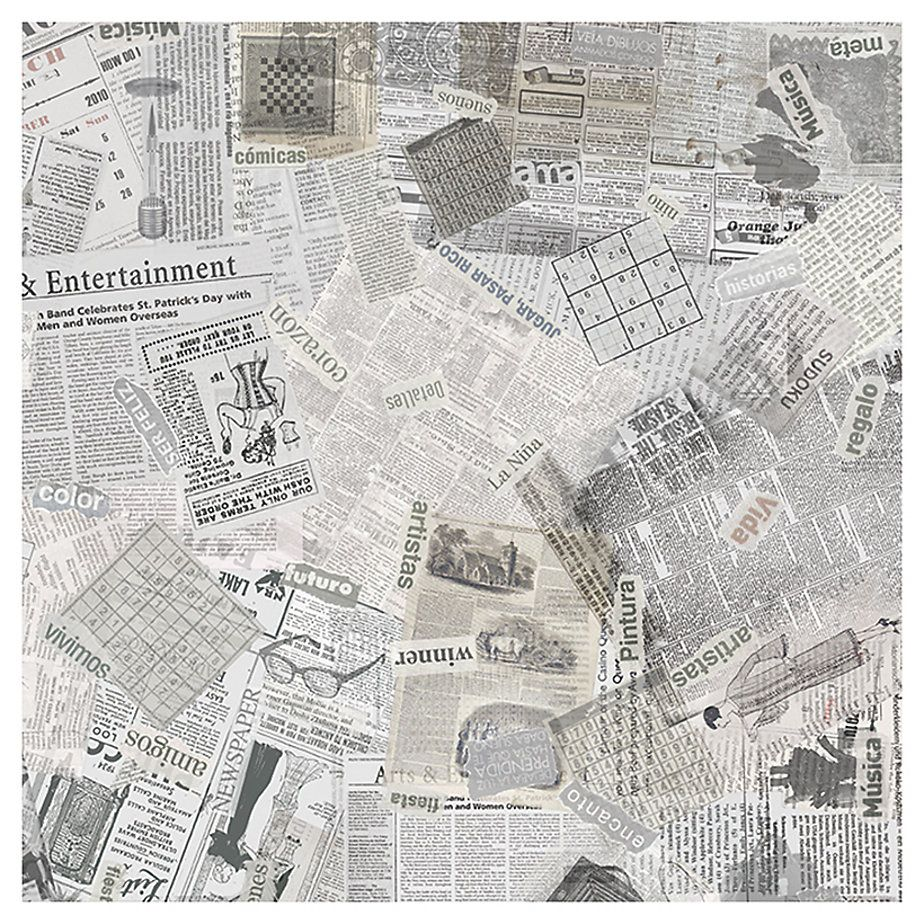 Cerámica 44.5 x 44.5 cm Periódico Blanco 1.78 m2-Sodimac.com
