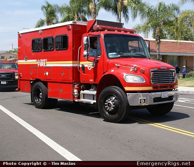 Freightliner Fl112 Support Los Angeles County Fire Department Fire Trucks Freightliner Fire Department