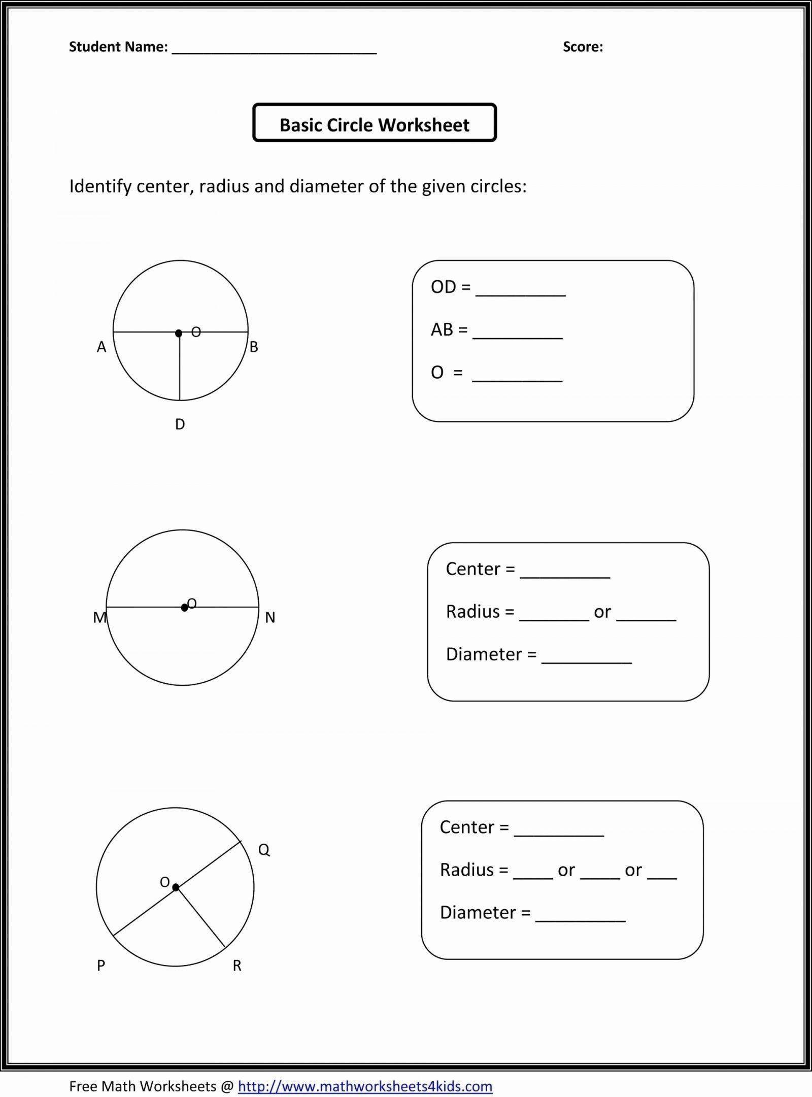 6 Free Math Printouts In