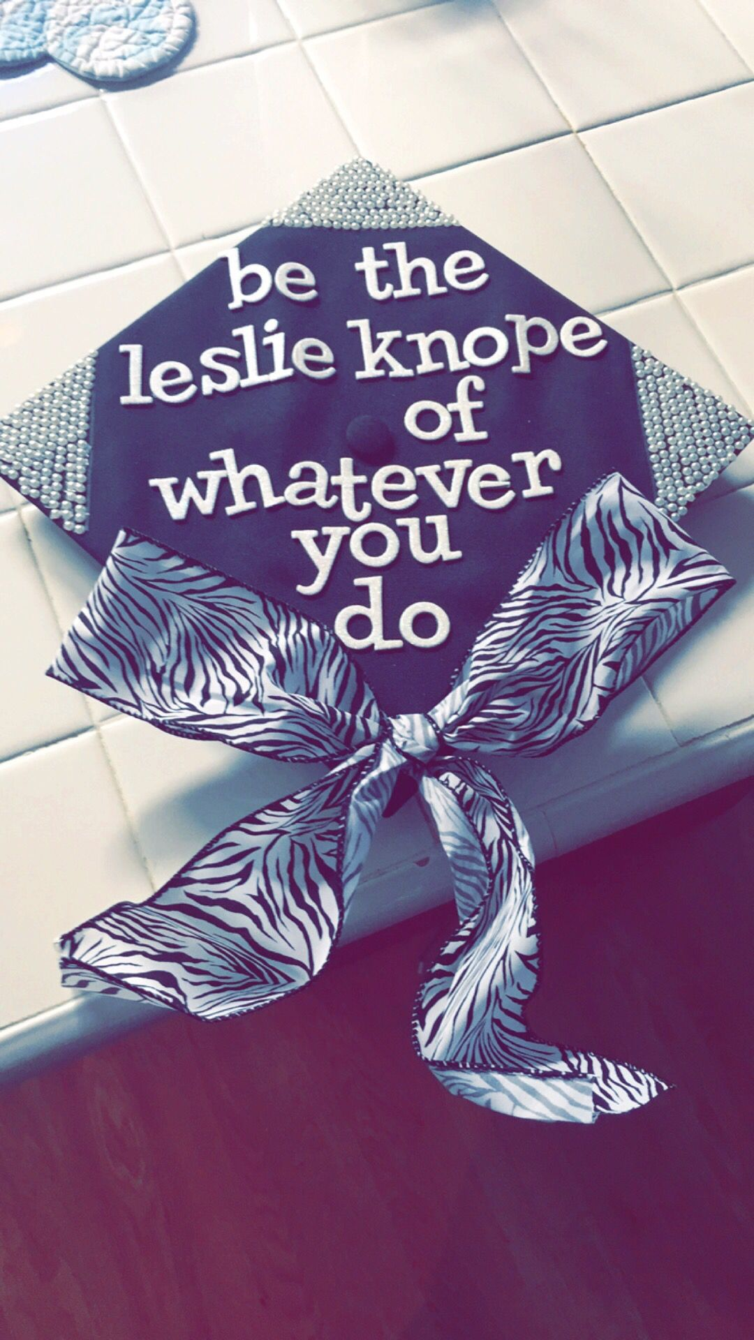 46a343a66ea18 My Parks and recreation graduation cap. Leslie knope of parks and ...