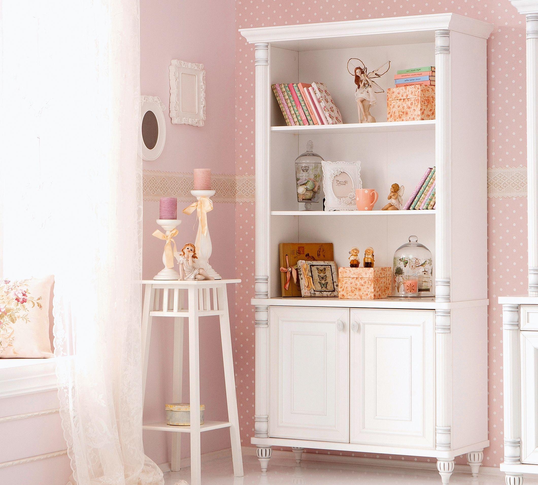 Romantic boekenkast meisjeskamer brocante | 小孩房 | Pinterest ...